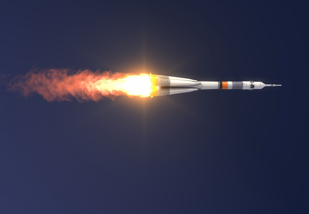 "Carrier rocket ""Soyuz-FG"" Launch."