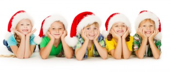 Santa Hats on Kids
